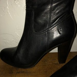 Size 9 Frye boots, black leather.  Never worn NEW